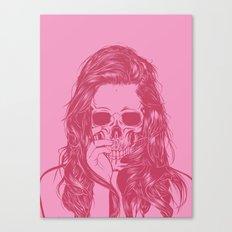 Skull Girl 1 Canvas Print