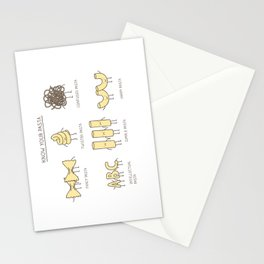 know your pasta Stationery Cards
