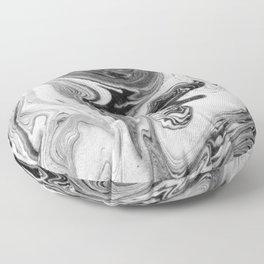 Mizuki - spilled ink marbling paper marble swirl abstract painting original art india ink minimal Floor Pillow