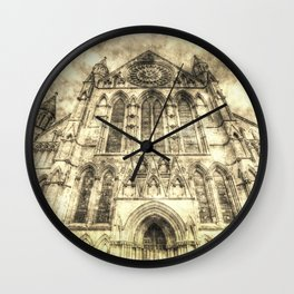 York Minster Cathedral Vintage Wall Clock