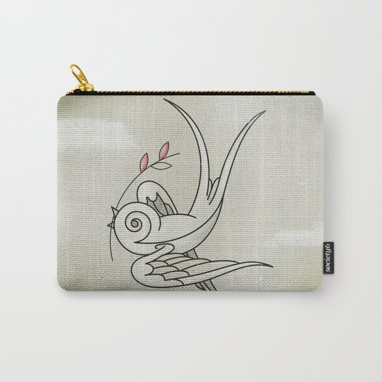 Peace Sparrow Carry-All Pouch