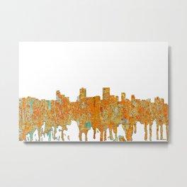 Anchorage, Alaska Skyline - Rust Metal Print