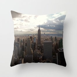 New York Skyline 1 Throw Pillow