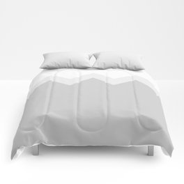 Geometric abstract - zigzag, gray. Comforters