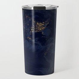 Earth At Night Travel Mug