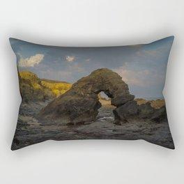 la mine france aerial drone shot cliff people sunset clouds goldenhour rock Rectangular Pillow