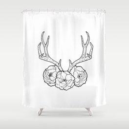 Deer vs Flowers Shower Curtain