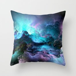 Space storm Throw Pillow