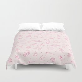 Pink Space Pattern Duvet Cover