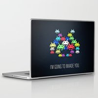 boss Laptop & iPad Skins featuring invader boss by techjulie