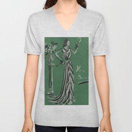 French Fashion Couture 1937 Unisex V-Neck