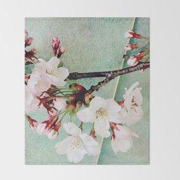 "Cherry blossoms on ""Wa-shi""  -桜に和紙 Throw Blanket"