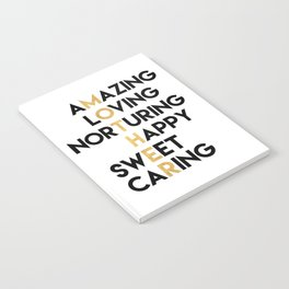 DEAR MOTHER Mothers Day quote Notebook
