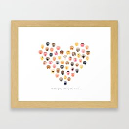 Vulva Heart - The Vulva Gallery Framed Art Print