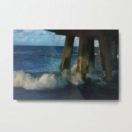 Beneath the Pier Metal Print
