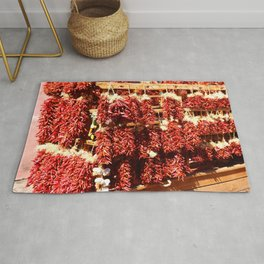 Red Chili Ristra And Gralic Rug