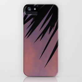 Palm Silhouette at Sunset iPhone Case