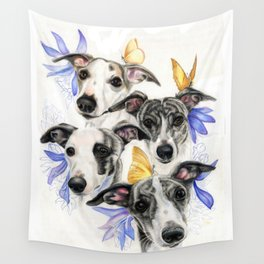 Whippets Wall Tapestry