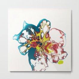 Acrylic Pouring Metal Print