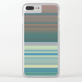 Turquoise and pink watermelon stripes Clear iPhone Case