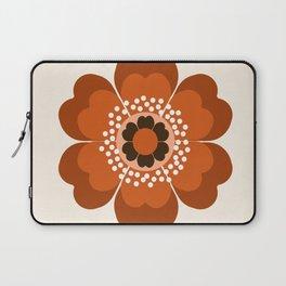 Coolie - retro flower 70s vibes minimalist floral 1970's colorful decor Laptop Sleeve