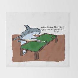 Pool Sharks Throw Blanket