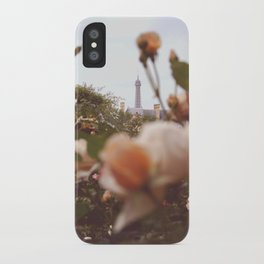 Flowers grow in Paris iPhone Case