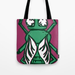Fly in Green Tote Bag