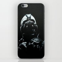 bane iPhone & iPod Skins featuring Bane by Vanessa Leach