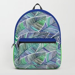 Tropical Leaves – Blue/Green Palette Backpack