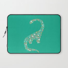 Floral Brontosaurus Laptop Sleeve