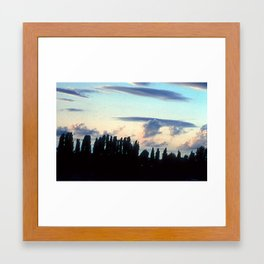 IN HUNGARY BY THE RIVER Framed Art Print