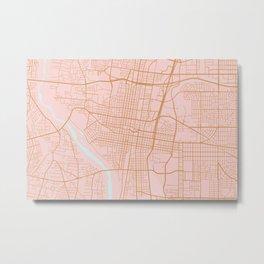 Albuquerque map Metal Print