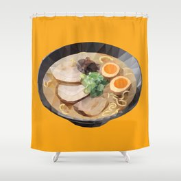 Japanese Tonkotsu Ramen Polygon Art Shower Curtain