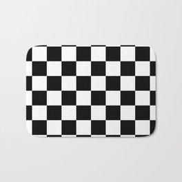 Black & White Checker Checkerboard Checkers Bath Mat