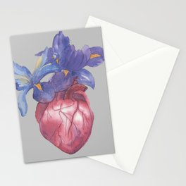 Heart with flowers Stationery Cards