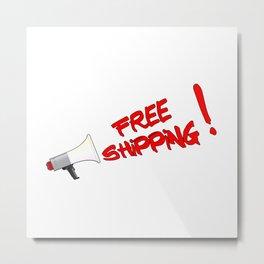 Free Shipping Megaphone Metal Print