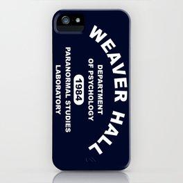 Weaver Hall iPhone Case