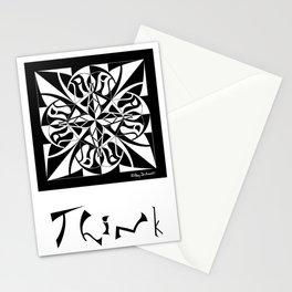 Think - Black White Stationery Cards