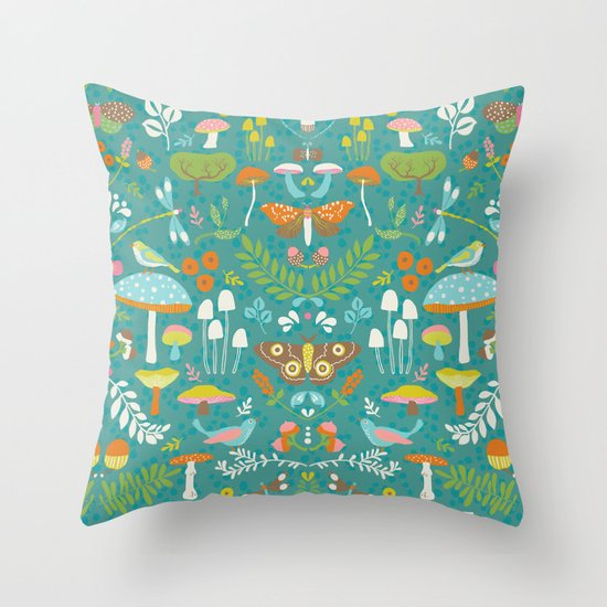Flora Autumn Throw Pillow