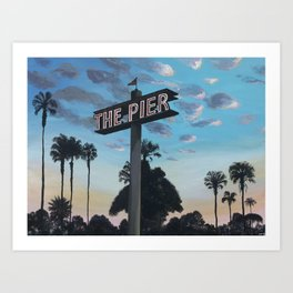 Redondo Beach Pier: Dusk Art Print
