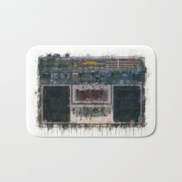 cassette recorder  - painting / illustration Bath Mat