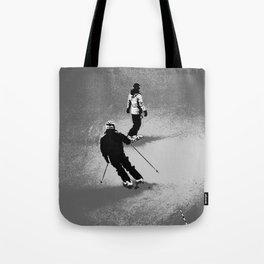 Skiing and Snowboarding Winter Fun Tote Bag