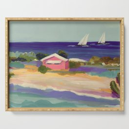 PINK COTTAGE BEACH Serving Tray
