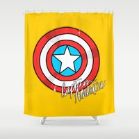 shield Shower Curtains featuring Shield by Chelsea Herrick