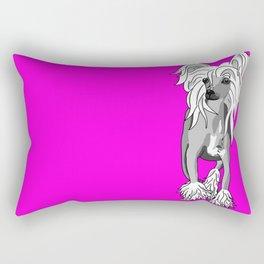 Sassy Chinese Crested Rectangular Pillow