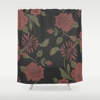 flora Shower Curtains featuring Flora by Norman Duenas