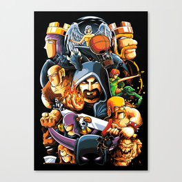 The Clan Warrior Canvas Print