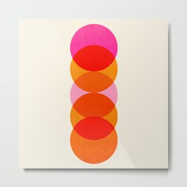 Abstraction_COLOUR_CIRCLES_001 Metal Print