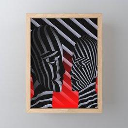 broken faces Framed Mini Art Print